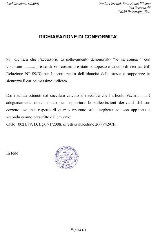 Dichiarazione di Conformità CE